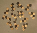 Checkerboard puzzle: scattered