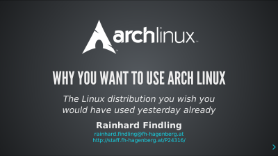 Arch Linux: why you want to use it