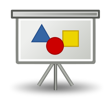 Slides icon, RRZE, https://commons.wikimedia.org/wiki/File:Slide.svg